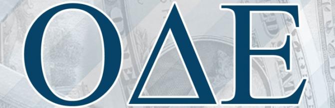 Omicron Delta Epsilon Greek letters